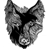 Wolf and Raven Transparent Small