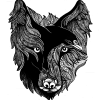 Wolf and Raven Transparent